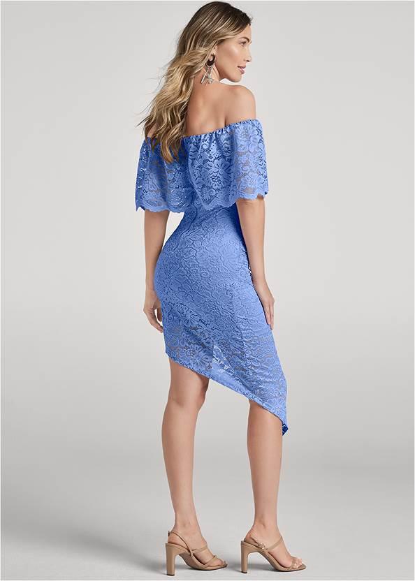 Back View Off The Shoulder Lace Dress