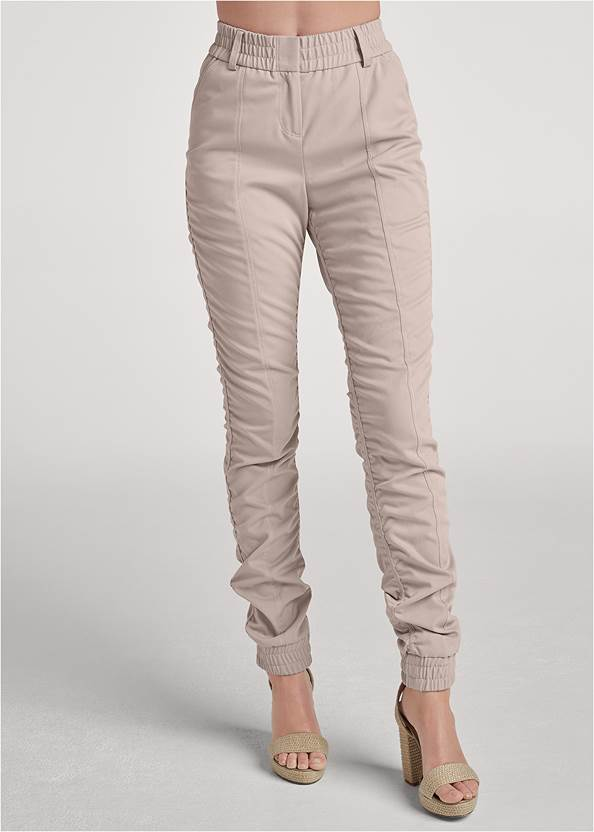 Front View Ruched Cargo Pant