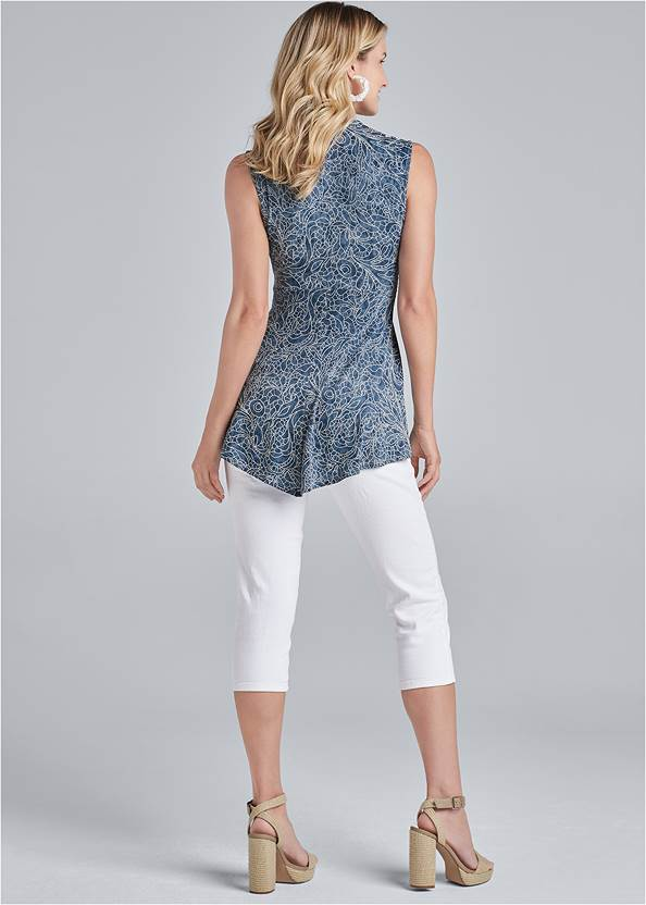Full back view High Low Lace Detail Top
