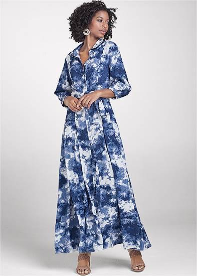 Button Down Tie Dye Dress