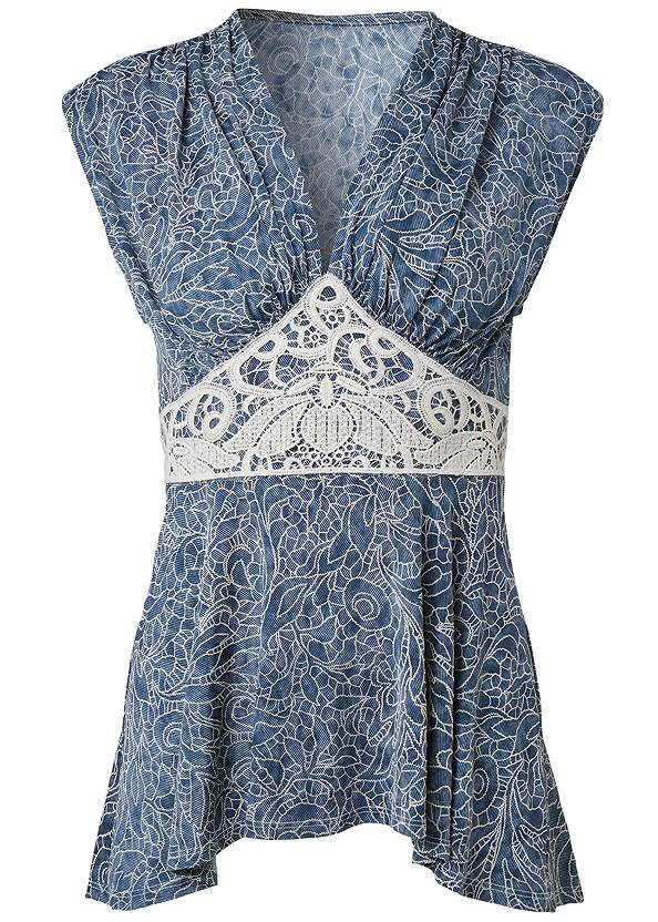 Ghost with background  view High Low Lace Detail Top
