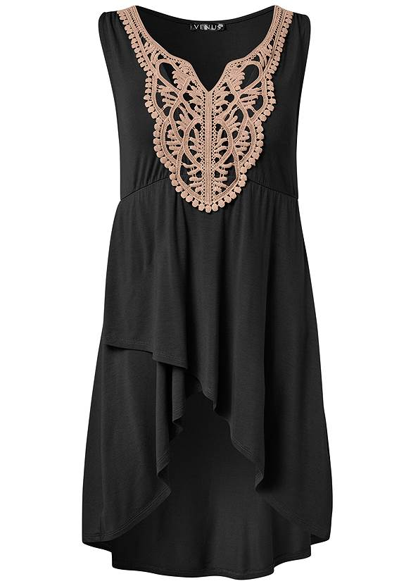 Alternate View Crochet Lace Tunic Top