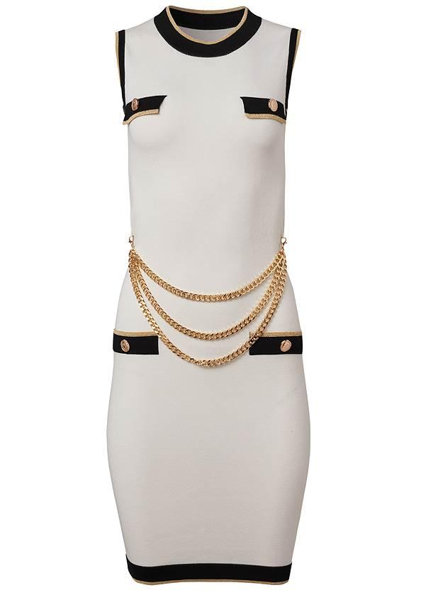 Alternate View Chain Detail Sweater Dress