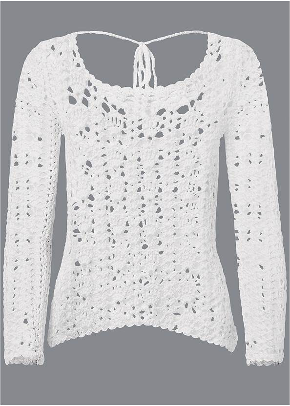 Ghost with background  view Crochet Knit Sweater