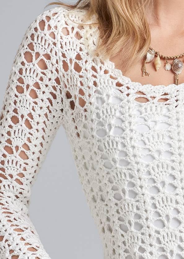 Alternate View Crochet Knit Sweater