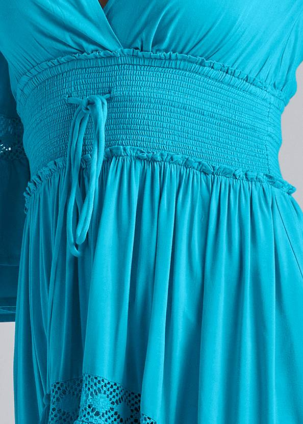 Detail front view Lace Detail Tiered Maxi Top
