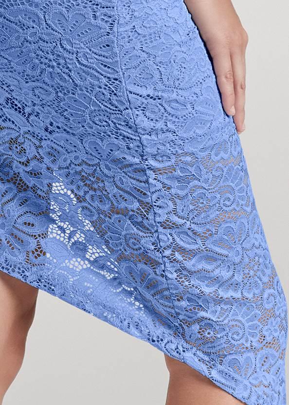 Detail back view Off The Shoulder Lace Dress