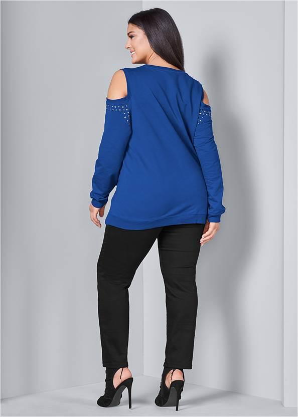 Back View Cold Shoulder Sweatshirt