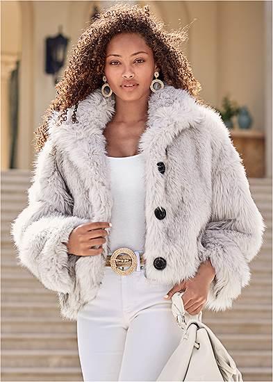 Short Faux Fur Jacket
