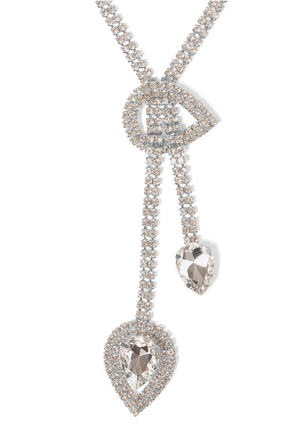 Detail  view Rhinestone Crystal Necklace