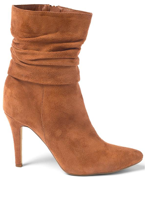 Shoe series side view Slouchy Pointed Toe Booties