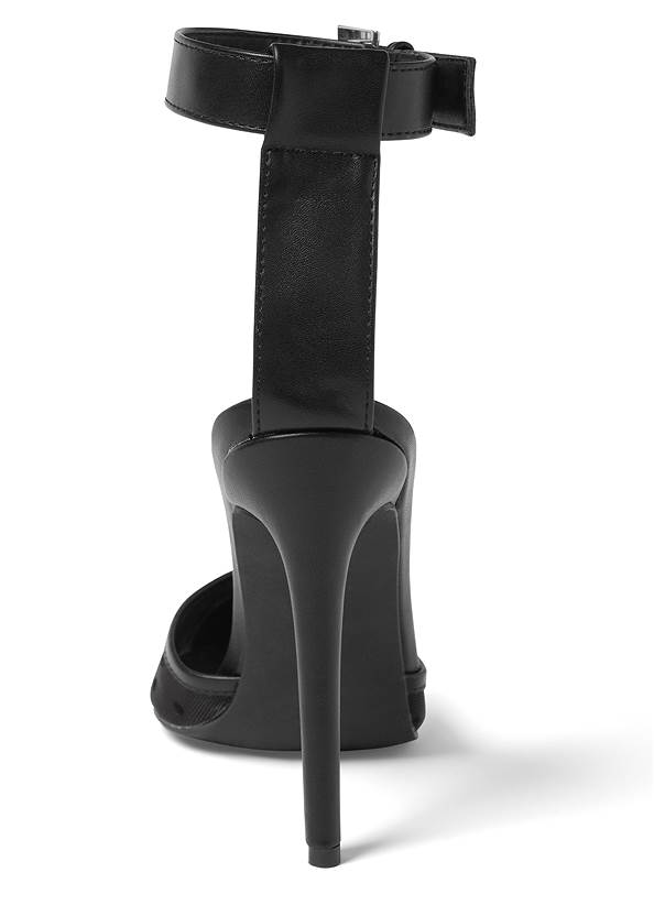 Shoe series back view Mesh Pumps With Ankle Strap