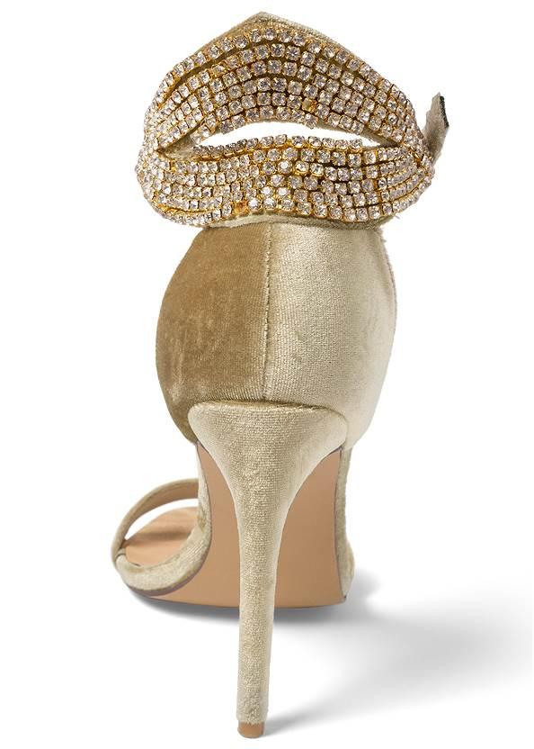 Shoe series back view Velvet Embellished Heels