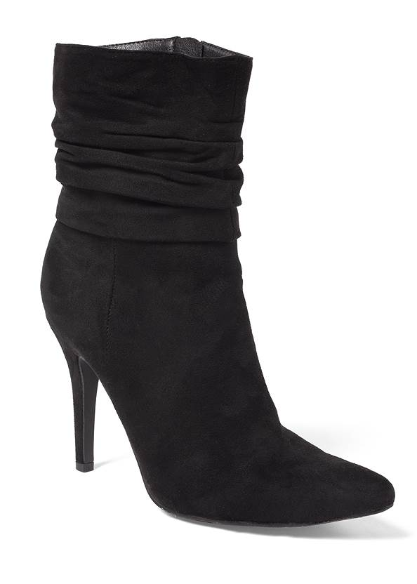 Slouchy Pointed Toe Booties