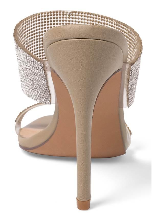 Shoe series back view Rhinestone Mules