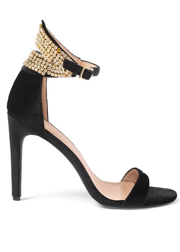 Shoe series side view Velvet Embellished Heels