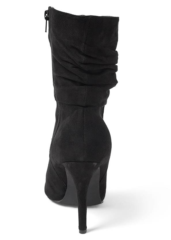 Shoe series back view Slouchy Pointed Toe Booties