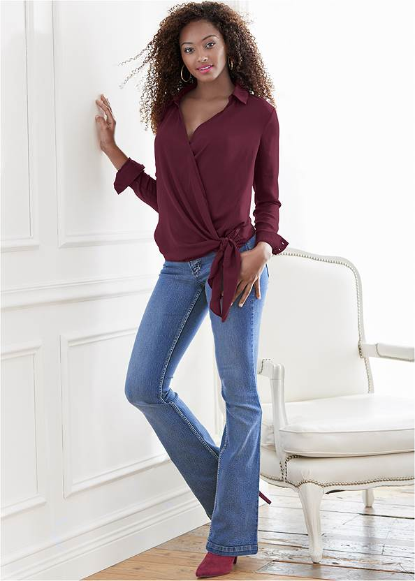 Surplice Side Tie Blouse,Basic Cami Two Pack,Casual Bootcut Jeans,Mid Rise Color Skinny Jeans,Tie Back Boots,Lace Detail Booties,Fringe Scarf,Slouchy Faux Suede Boots,Bum Lifter Jeans,High Heel Strappy Sandals,Mixed Earring Set