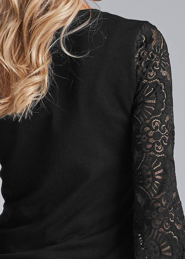 Alternate View Lace Sleeve Cardigan