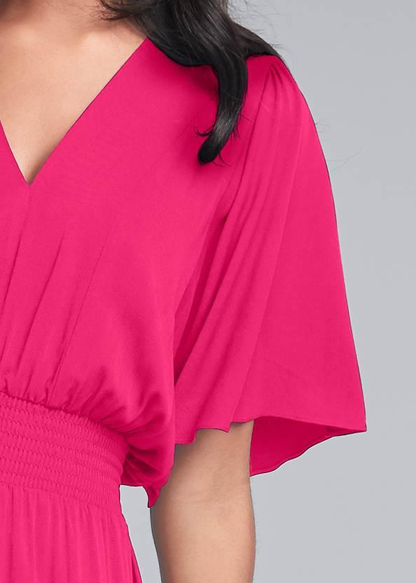 Alternate View Flutter Sleeve Maxi Dress