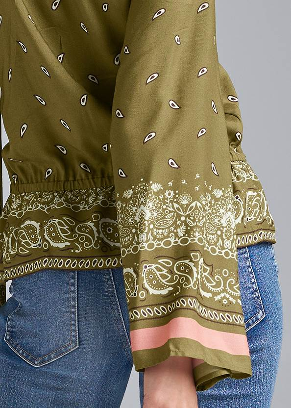 Alternate View Paisley Bell Sleeve Top