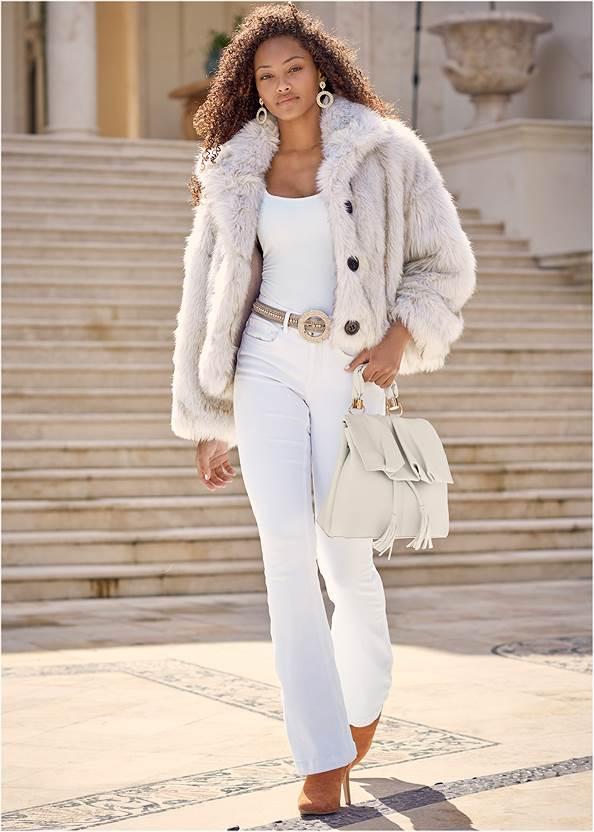Alternate View Short Faux Fur Jacket