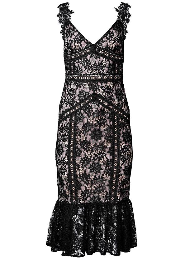 Ghost with background  view Lace Midi Bodycon Dress