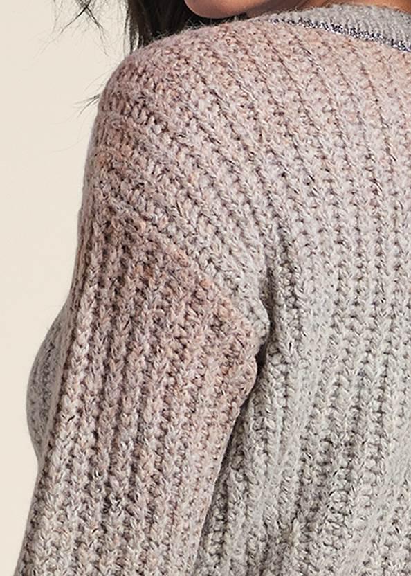 Alternate View Ombre Knit V-Neck Sweater