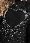 Alternate View Embellished Heart Sweater