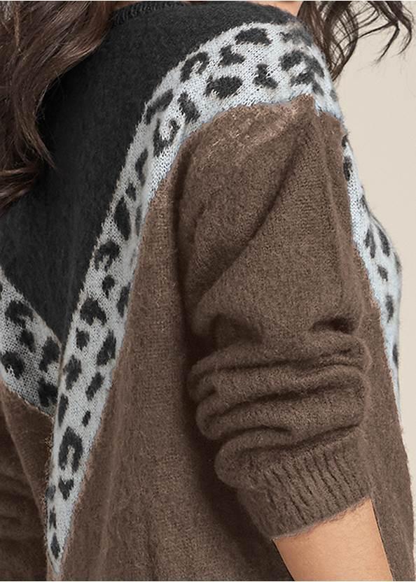 Alternate View Leopard Stripe Sweater