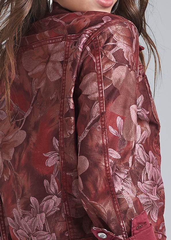Detail back view Reversible Denim Jacket