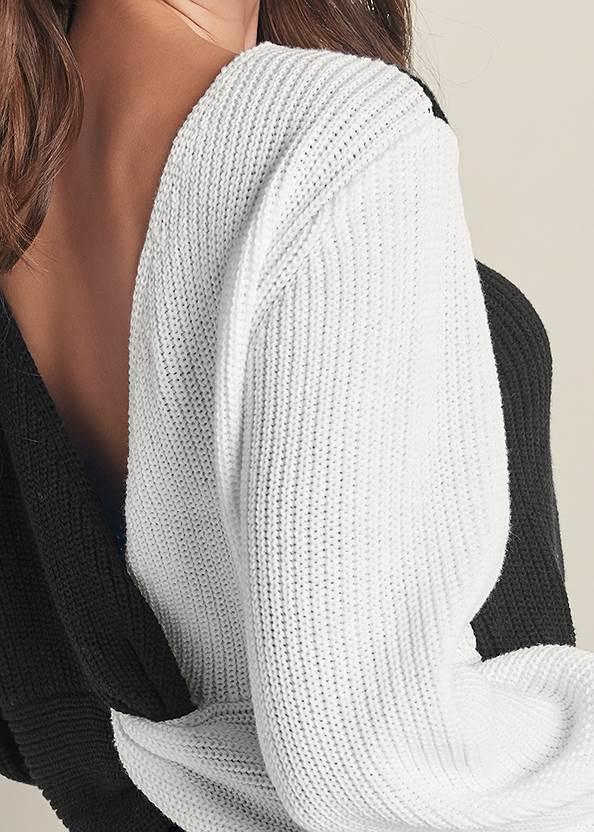Alternate View Twist V-Back Sweater