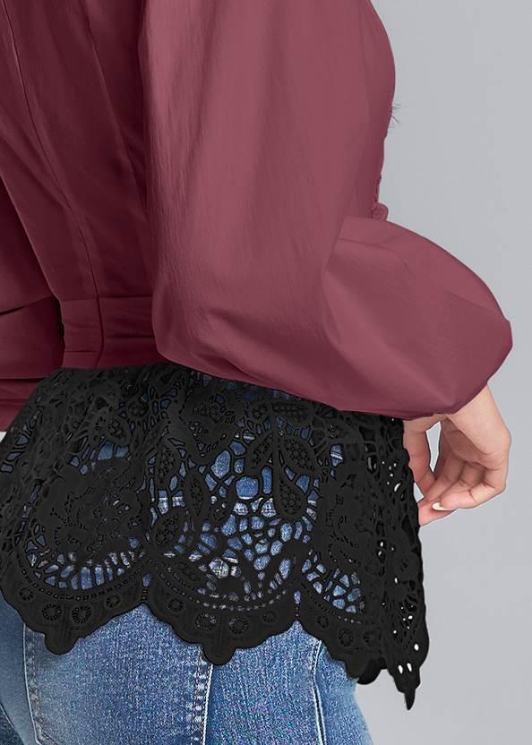 Alternate View Lace Peplum Blouse