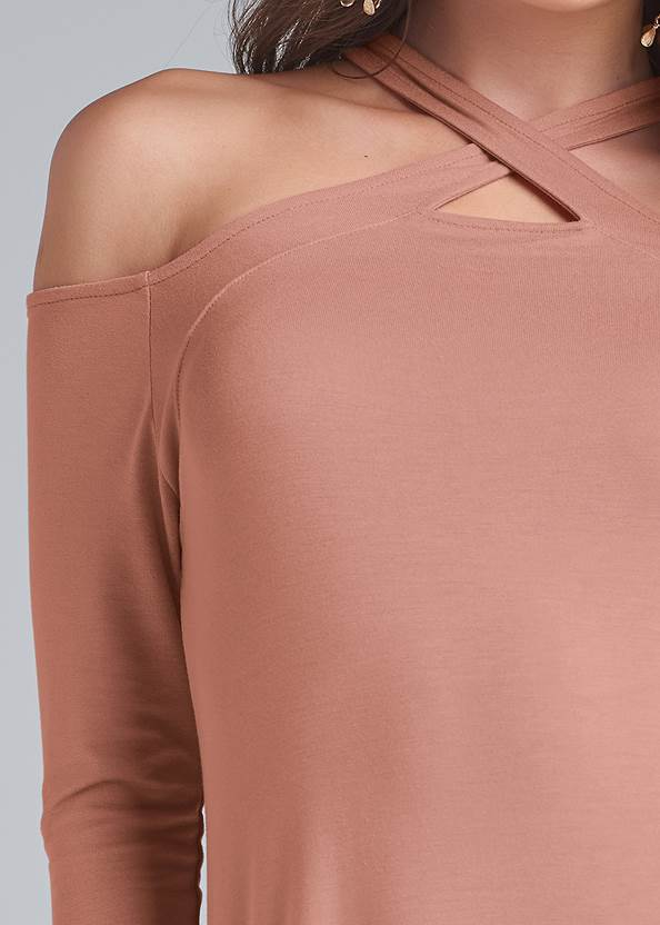 Detail front view Casual A-Line Dress