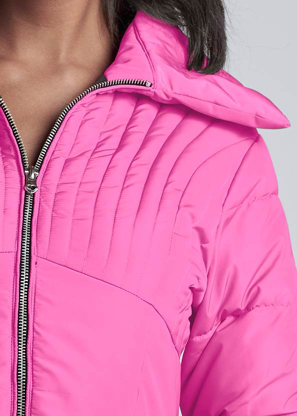 Alternate View Ombre Peplum Puffer Jacket