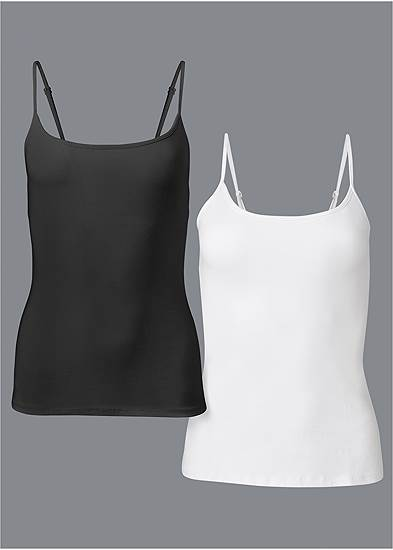 Plus Size Basic Cami Two Pack