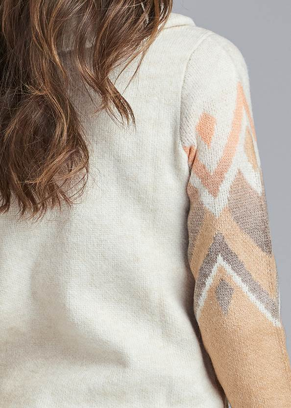 Back View Cowl Neck Sweater