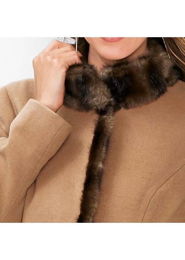 Alternate View Faux Fur Detail Coat