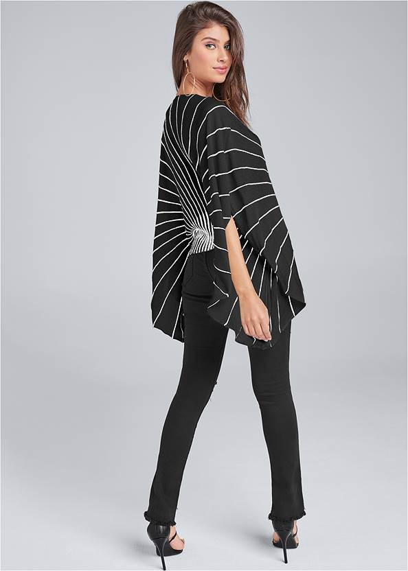 Back View Butterfly Sleeve Sweater