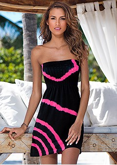 seamless bandeau cover-up