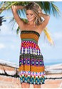 Front view Tribal Smocked Dress