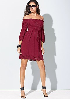 Off the shoulder dress in