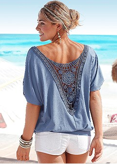 crochet back top