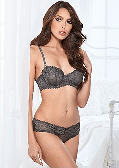 unlined lace balconette bra