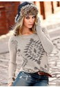 Front view Pattern Crewneck Sweater