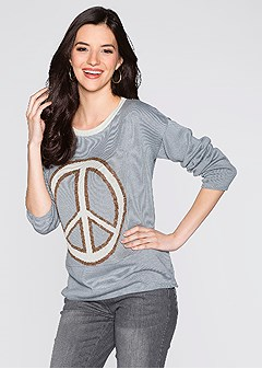 peace sign sweater
