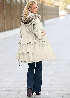 ruffle back coat