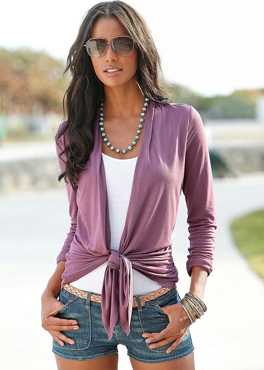 TWO IN ONE CARDIGAN TOP