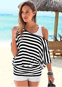 layered stripe shirt