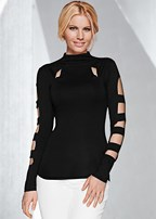 cut out detail turtleneck